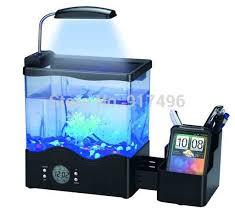 office desk aquarium. usb small aquarium multifunctional penholder mini office desk with led light tank