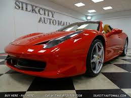 Items portrayed in this file. Used Ferrari 458 Italia Spider Rwd For Sale Right Now Cargurus