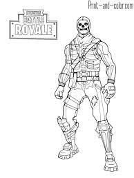 Fortnite Battle Royale Coloring Page Skull Trooper Kleurplaten