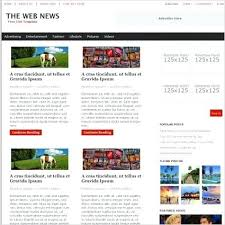 Free Html Newspaper Template Bootstrap News Site Newspaper Html Template Old Rubydesign Co