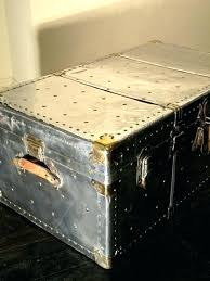 metal trunk coffee table restoration hardware steamer oak antique nz