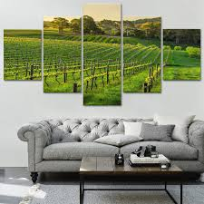vineyard canvas print painting framed home wall decor art wine green poster 5pcs 1 of 8free