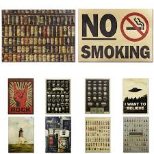 Details About Vintage Bar Poster Cafe Pub Club Home Wall Decoration Chart Kraft Paper Painting