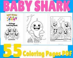 Celebrate marine life with shark coloring pages. Printable Coloring Pages Downloadable Shark Coloring Sheet Etsy