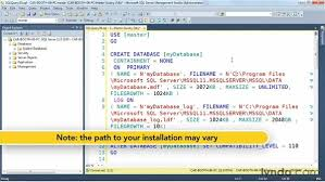 ing and installing a sample database