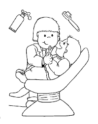 Small Picture Dentist People Who Help Us Preschool Early Years Coloring Pages