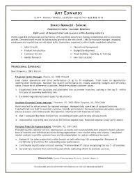 Bank Customer Service Resume Sample Banking Examples 7 Example For
