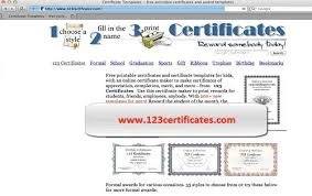 Making Certificates Online Free How To Create Printable Award Certificates Online Howtech