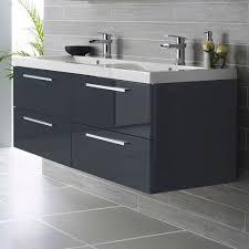 Hudson Reed Quartet Wall Mounted Bathroom Vanity Unit 1440mm Wide High