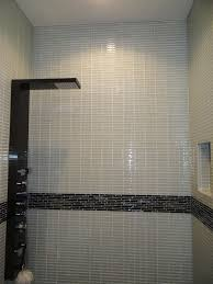 charming with subway tileshower also accent then tile shower new white 1x4 glass tile shower walls 768x1024