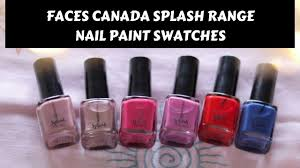 faces canada splash nail paint swatches india