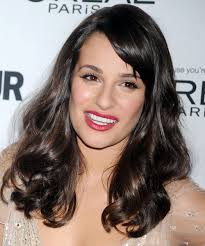 Medium Length Wavy Hairstyles 40 Inspiration Lea Michele Long Wavy Formal Hairstyle With Side Swept Bangs Dark