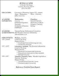 Chrological Resume