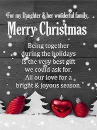 Family christmas is a phrase used to describe the cute christian festival called christmas which is celebrated around the globe on 25th december. Merry Christmas Wishes For Daughter Her Family Birthday Wishes And Messages By Davia