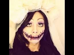 boy to transformation creepy doll makeup 伪娘万圣节简单咧嘴妆容