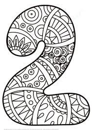 Small Picture Number 2 Zentangle coloring page Free Printable Coloring Pages