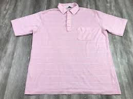 vintage dior pink white striped soft polo golf tennis rugby shirt xl