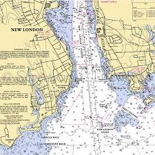 Connecticut New London Ct Thames River Nautical Chart Decor