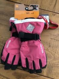 Details About New Hestra Czone Junior Ski Gloves Size 4 Pink 6 7 Years