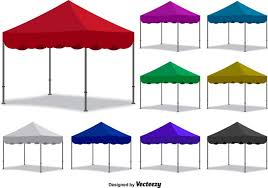 Folding Tent Vector Colorful Folding Tent Set Download Free Vector Art Stock