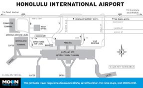 printable travel maps of o'ahu  moon travel guides