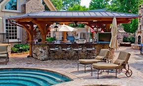 backyard designs with pool and outdoor kitchen. Wonderful Outdoor Images Of Backyard Designs With Pool And Outdoor Kitchen And R