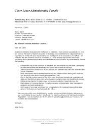 Sample Cover Letters For Administrative Jobs Cover Letters For