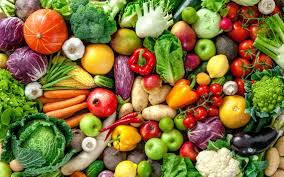 fruits and vegetables contain many vitamins minerals and fiber while not containing very many calories