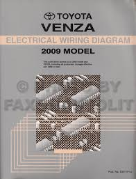 2009 toyota venza wiring diagram manual original