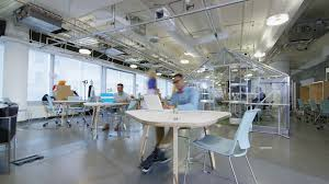 trendy office. 4K Time Lapse Of Busy Creative Business Team Working Hard In Trendy Office E