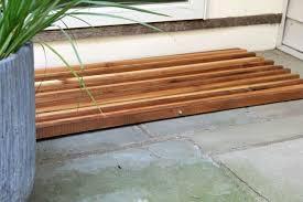 how to make a wood slat doormat