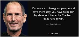 Steve Jobs Quote If You Want To Hire Great People And Have Them Classy Great People Quotes