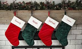 velvet christmas stockings.  Stockings Personalized Velvet Christmas Stockings For L