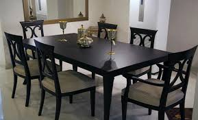 dining table and chairs for sale in karachi. dining table set in black theme and chairs for sale karachi i