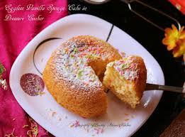Eggless Vanilla Sponge Cake In Cooker Shravs Kitchen