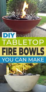 diy tabletop fire bowls fire pits