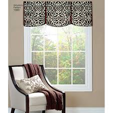 valances window treatments patterns simplicity pattern valances for wide windows  window treatments for sliding glass doors .