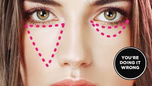 eye concealer can be used to hide these circles but unless you are applying