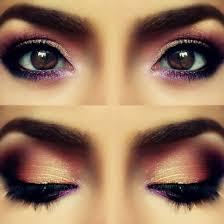 brown brown eyes cute eye shadows eyes gold lashes love makeup