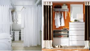 open closet curtain ideas