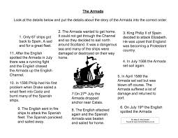spanish armada fact sort activity worksheet year  spanish armada fact sort activity