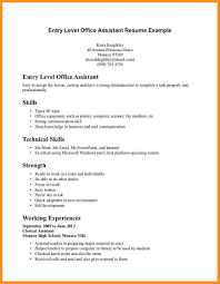 3 4 Entry Level Office Assistant Resume Knowinglost Com