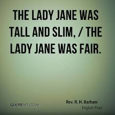 Lady Quotes Delectable Rev R H Barham Quotes QuoteHD