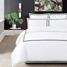 echelon home three line hotel collection cotton sateen 3 piece duvet cover set