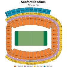 Uga Seating Chart Sanford Stadium Sanford Stadium Seating Chart