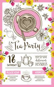 dinner template tea party invitation template design vintage creative dinner