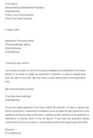Moving Notice To Landlord Samples Moontex Co