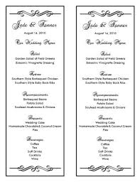 wedding reception program templates free download wedding menu template 7 wedding menu templates