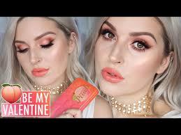 valentines day makeup tutorial sweet peach eyeshadow beautyvlogs