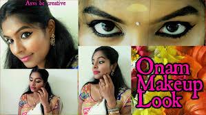 onam makeup look kerala makeup kerala saree mali south indian makeup you